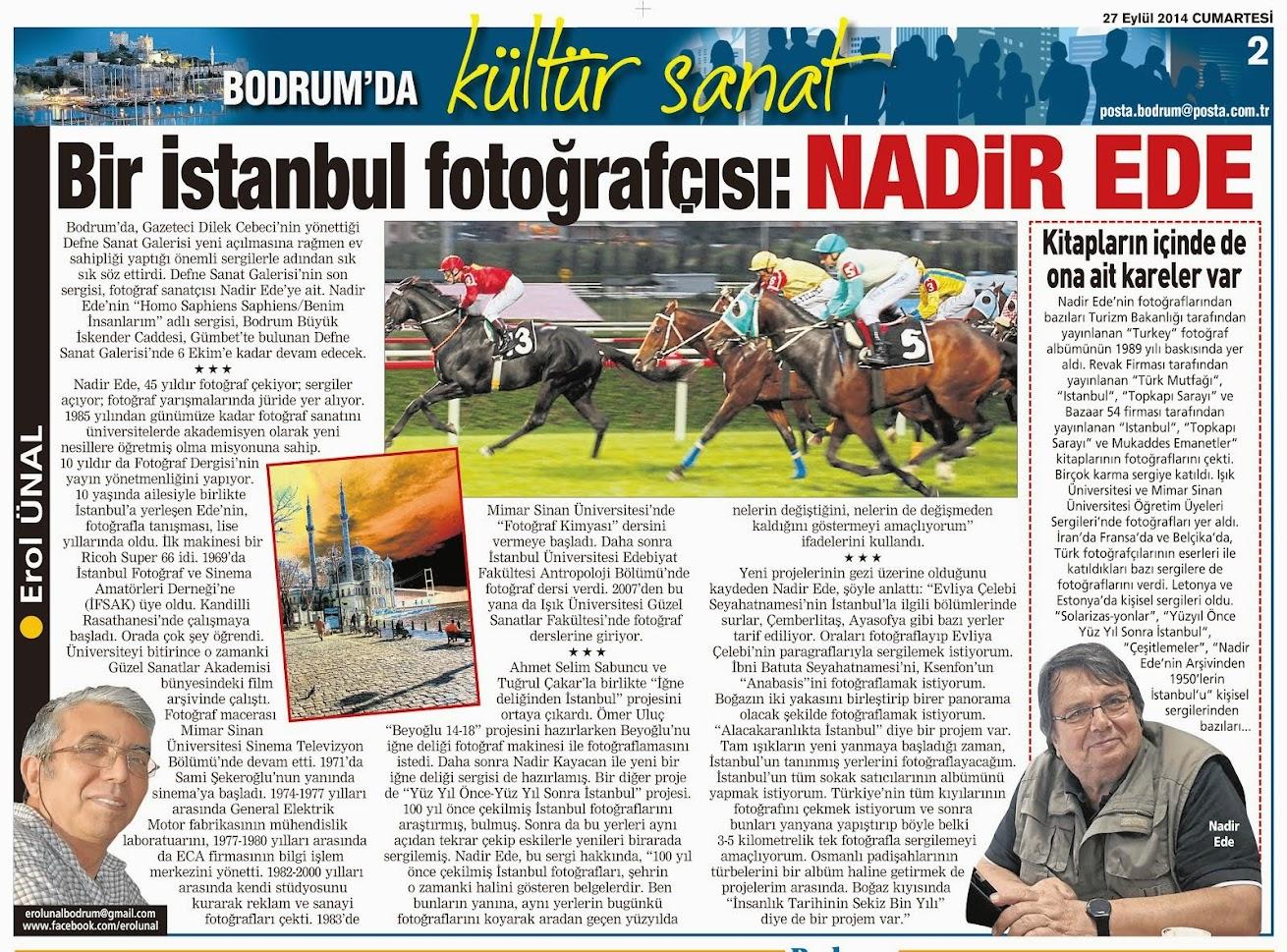 BİR İSTANBUL FOTOĞRAFÇISI NADİR EDE