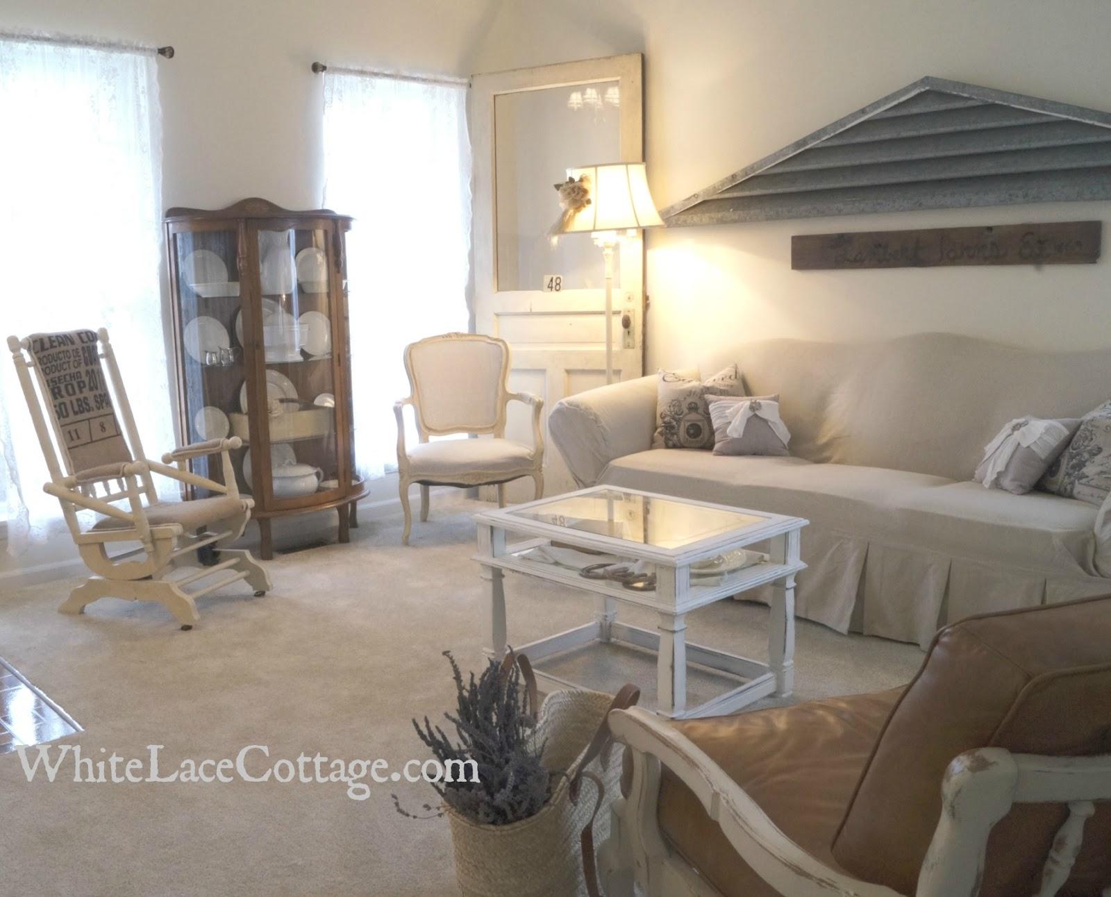 Wondrous Coffee Burlap Rocking Chair Reveal White Lace Cottage Download Free Architecture Designs Scobabritishbridgeorg