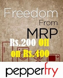 Get Rs.200 Off on Min Cart Value of Rs.400 or above @ Pepperfry (Valid on All Product across the site)