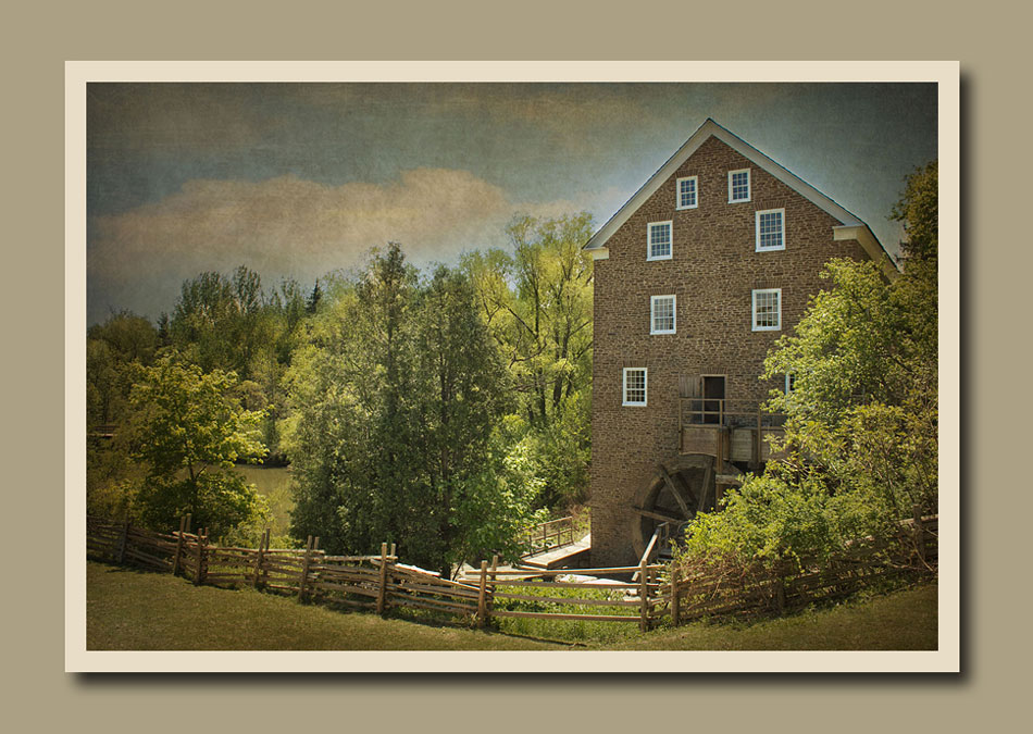 A view of Roblin's Mill on a spring day in May at Black Creek Pioneer Village.  Holly Cawfield Photography