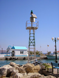 Feu vert de Faliraki (Rhodes, Grèce)