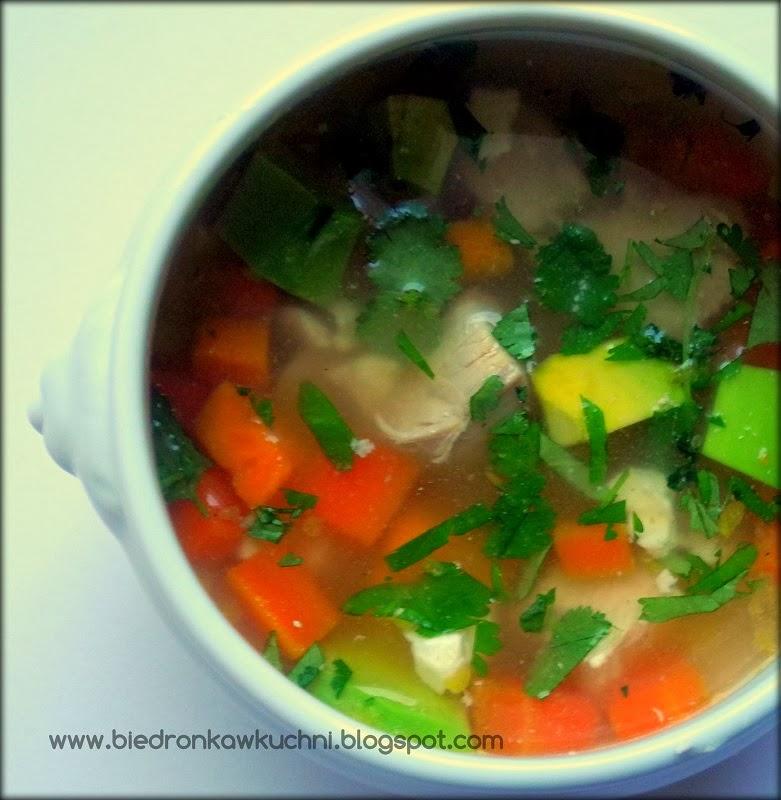 zupa z kurczakiem, zupa na kaca, zupa z batami
