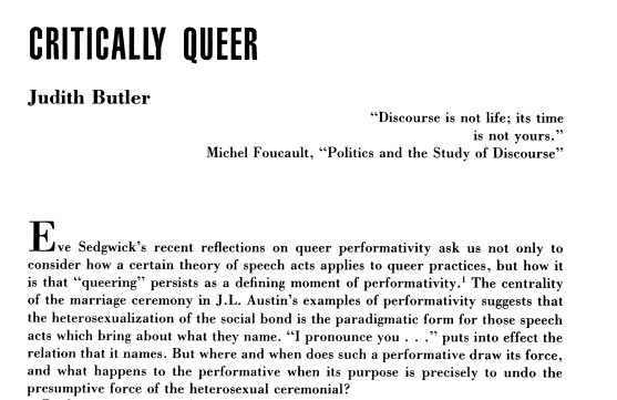 judith butler queer theory essay