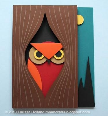 annown 3d paper owl