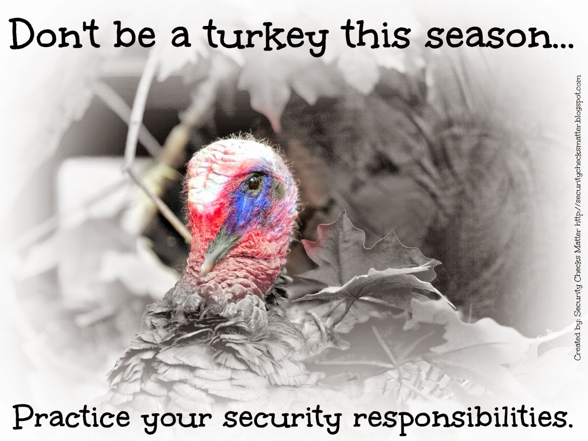 security checks matter thanksgiving security poster