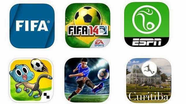 Las apps para seguir de cerca el Mundial Brasil 2014