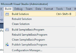 Visual Studio Build Solution