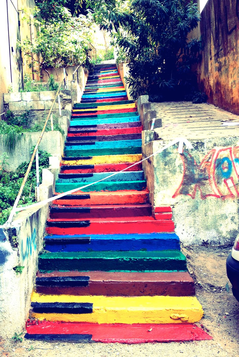 Color stairs in beyrouth lebanon by paint up