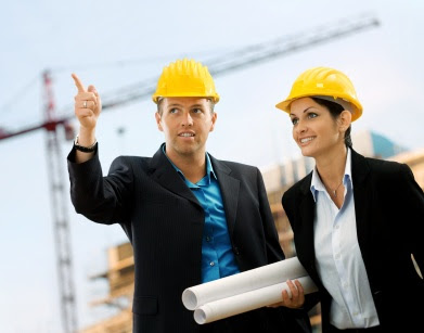 Civil Engineer Man and woman