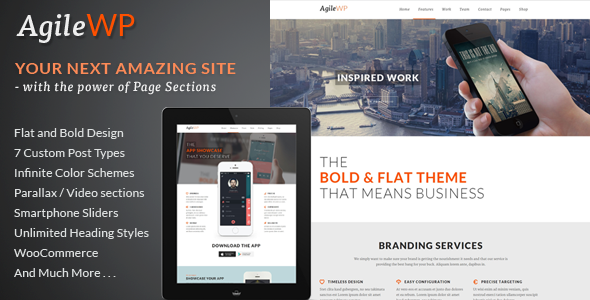 Agile v2.0 - Multi-Purpose App Showcase WordPress Theme