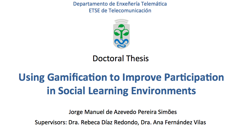 thesis on e learning Master's thesis in informatics, 30 credits title: e-learning management system for the thesis process support from a supervisor perspective.