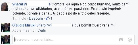 Comentários no Facebook: