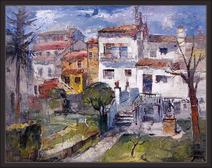 Venta pintura pintor ernest descals sant julia de vilatorta paisajes pintura cuadros osona - Pintor economico barcelona ...