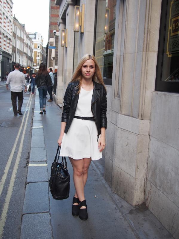 white dress biker boots