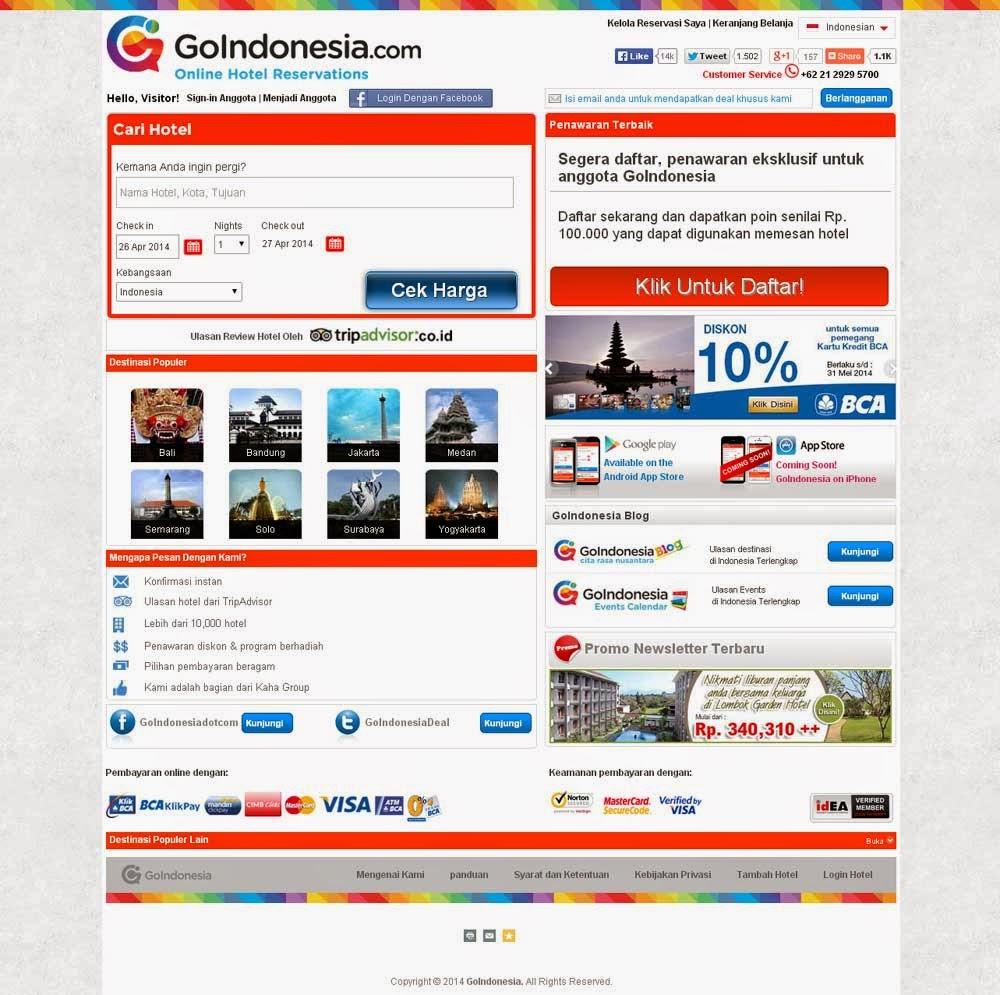 Kontes SEO GoIndonesia Hotel Murah di Jakarta