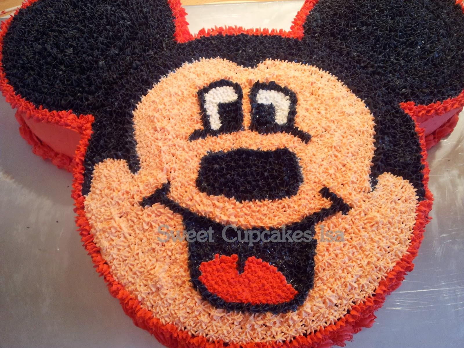 tarta mickey mouse tecnica estrella