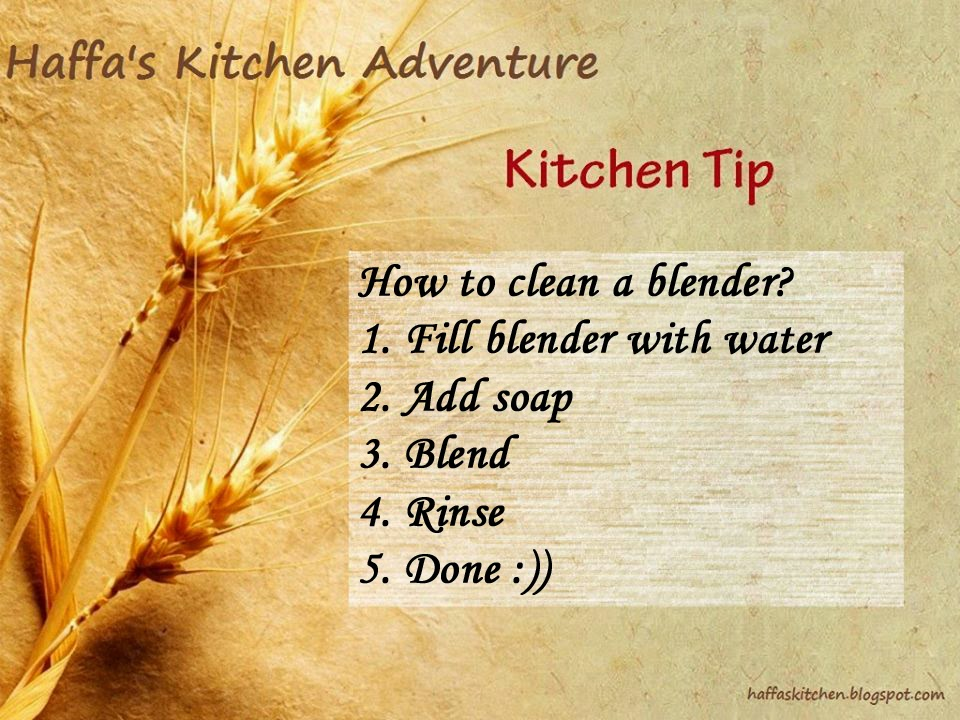 How to clean a blender| Kitchen tips,