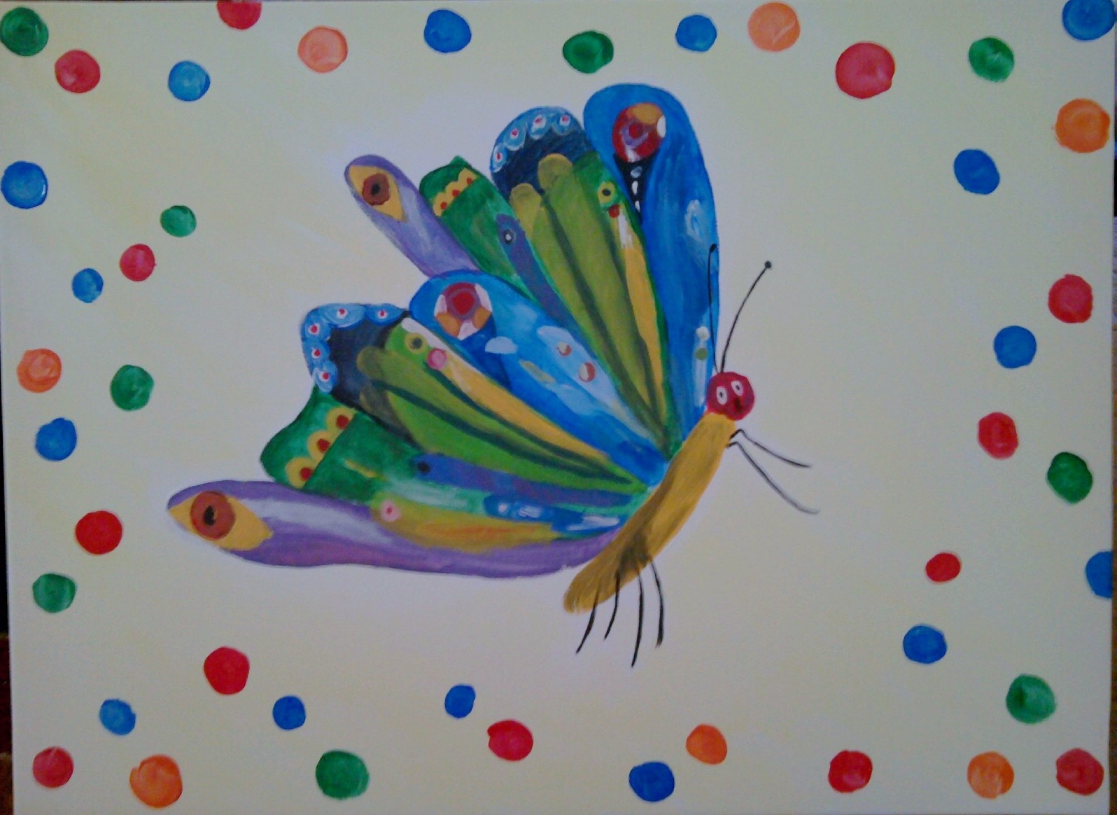 Butterfly in The Very Hungry Caterpillar