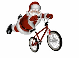 belfast city bmx Signs santa