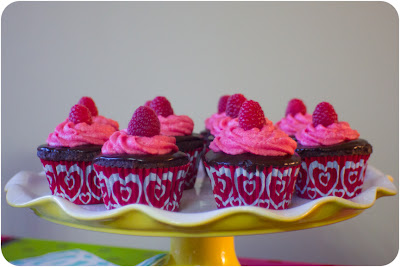 chocolate ganache raspberry filled chocolate cupcakes...a revisit