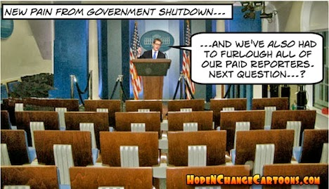 obama, obama jokes, boehner, hope n' change, hope and change, shutdown, conservative, tea party, carney, media