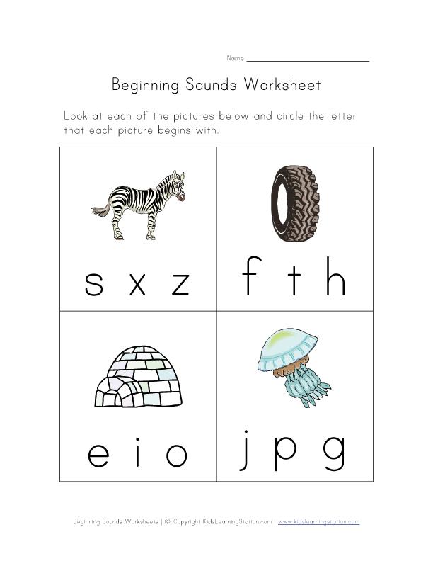 Beginning Sounds Worksheets : Phonics teachernick beginning sounds
