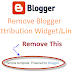 "How to Remove ""Powered by Blogger"" Link"