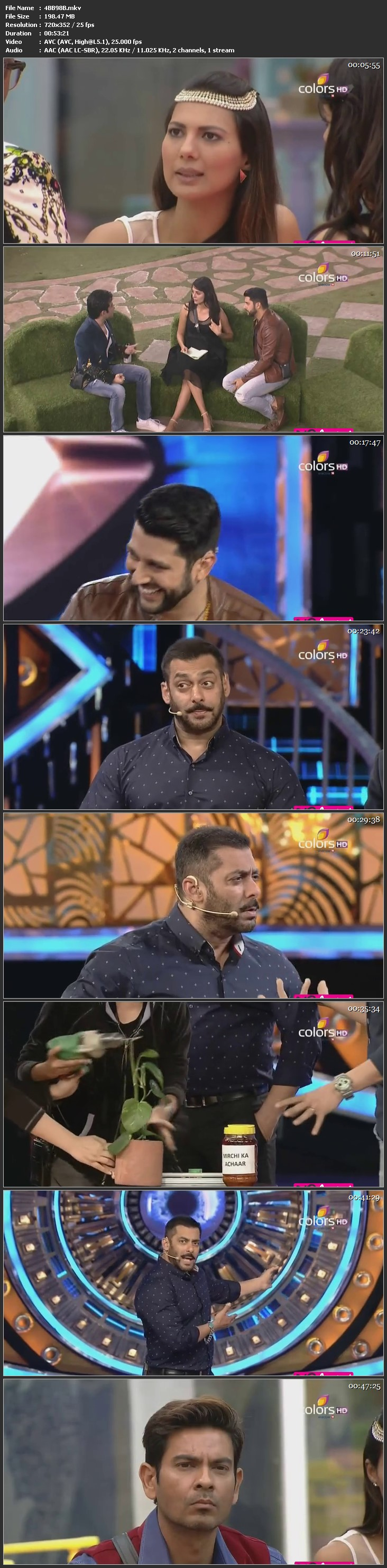 Screenshots Of Hindi Show Bigg Boss 9 17th January 2016 Episode 98 200MB 480P HD