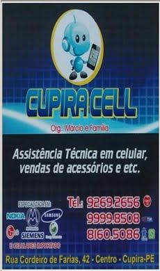 CUPIRA CELL ASSISTÊNCIA TÉCNICA EM CELULAR ,VENDAS DE ACESSÓRIOS E ETC...