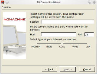 the nxclient wizard dialog