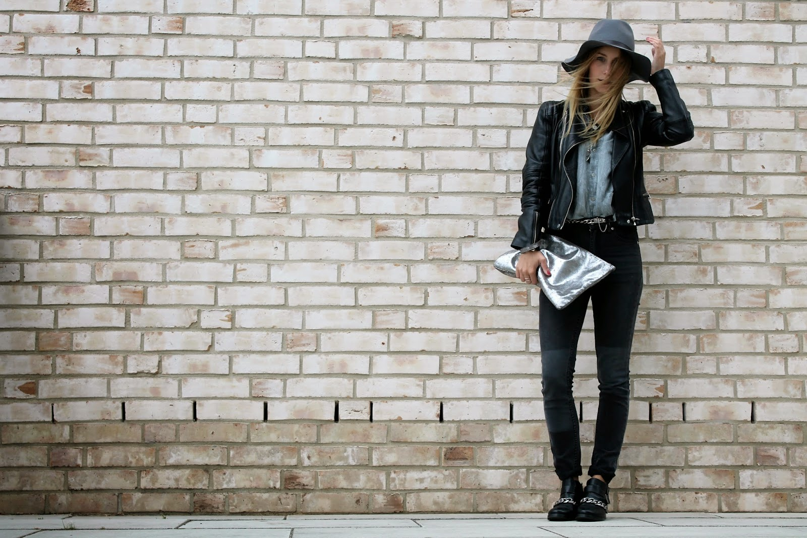 Hat, Longhair, Cheap Monday, Zara , Biker Boots, Blouse