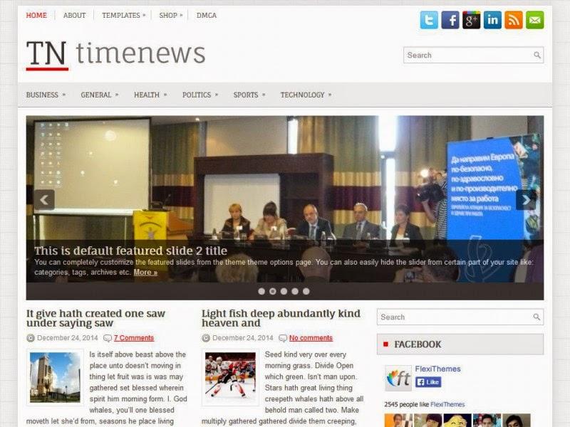 TimeNews - Free Wordpress Theme