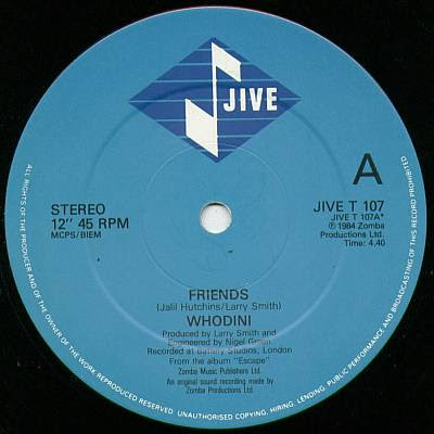 Whodini – Friends (VLS) (1984) (128 kbps)