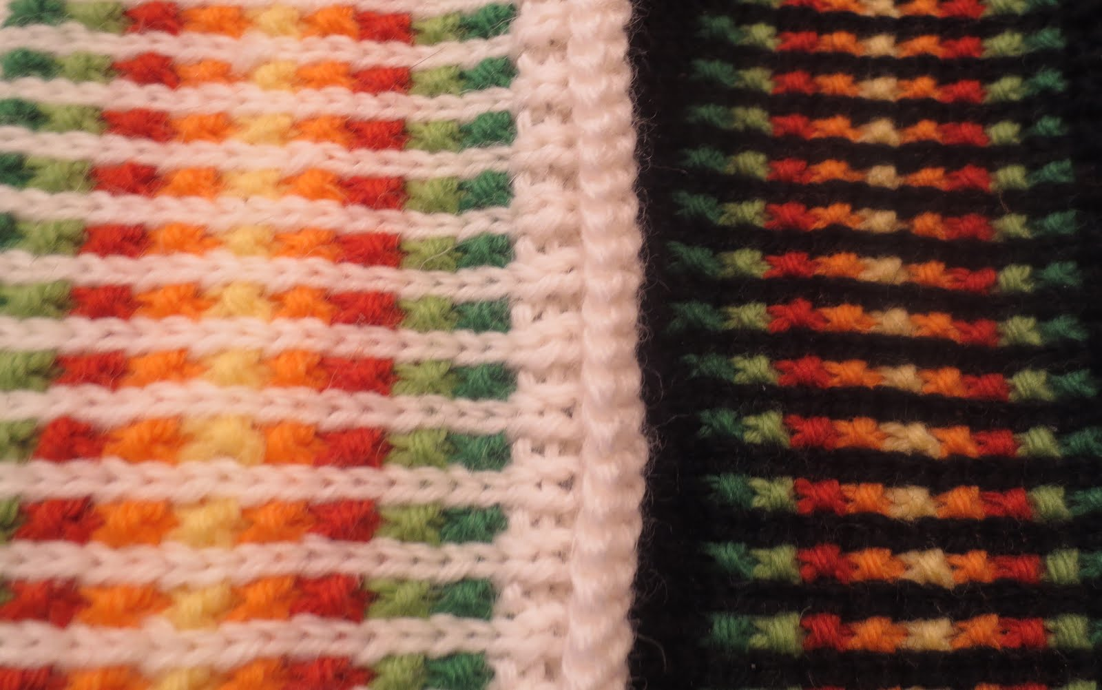 Techknitting corrugated ribbing tricks and tips two examples of 2 row high blipless corrugated worked as described in the text note also the rolled edge evident on the white sample bankloansurffo Choice Image