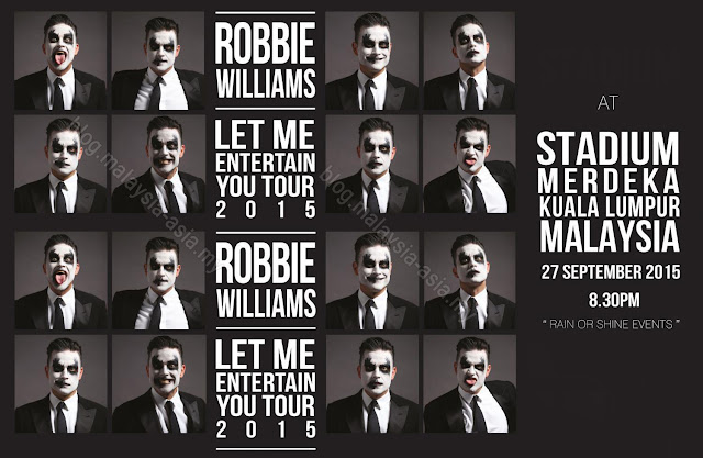 Robbie Williams Live Concert Malaysia 2015