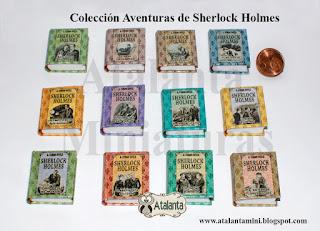Miniature book Aventuras de Sherlock Holmes -The Adventures of Sherlock Holmes