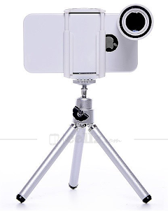 10x Zoom Photo Lens With Mini Tripod For iPhone 4 & 4S - White