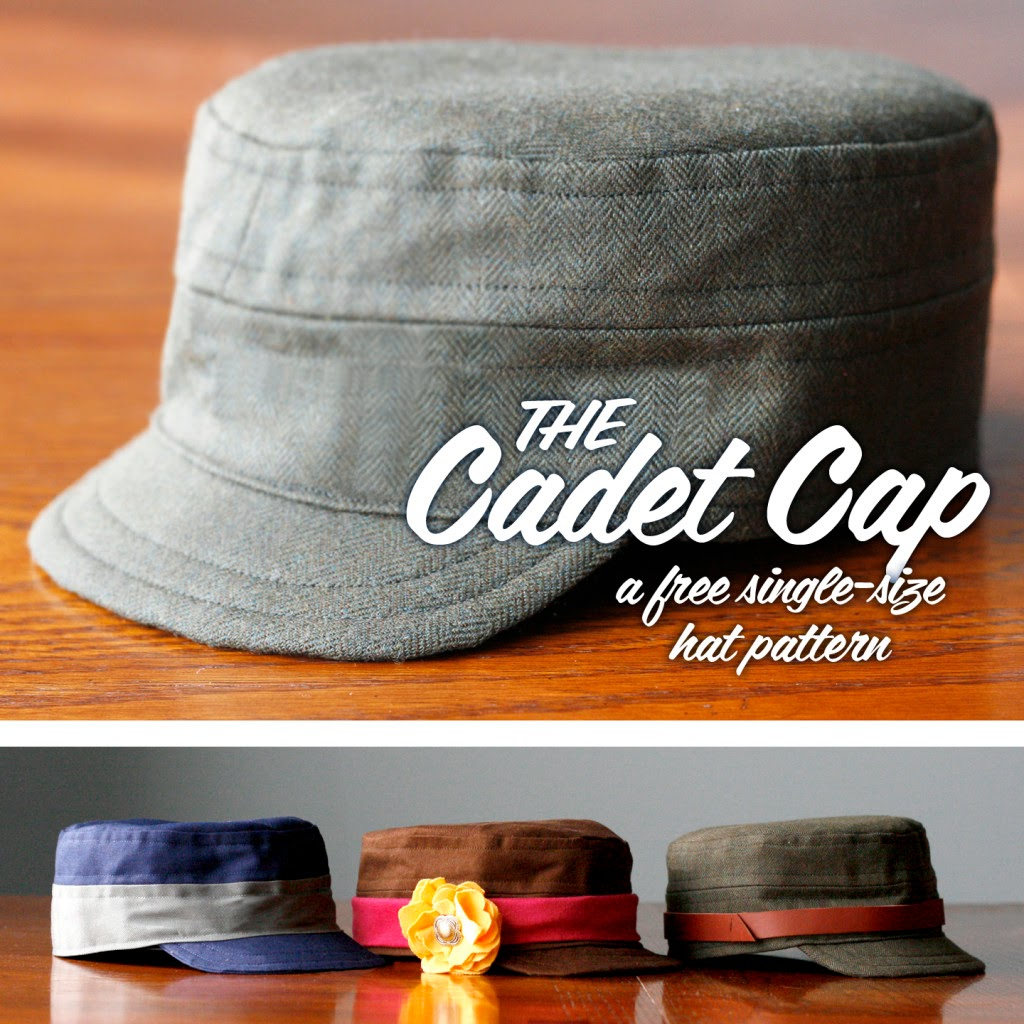 Cadet Caps for Boys sewing tutorial