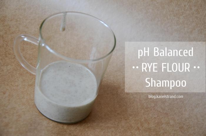 pH balanced rye flour shampoo