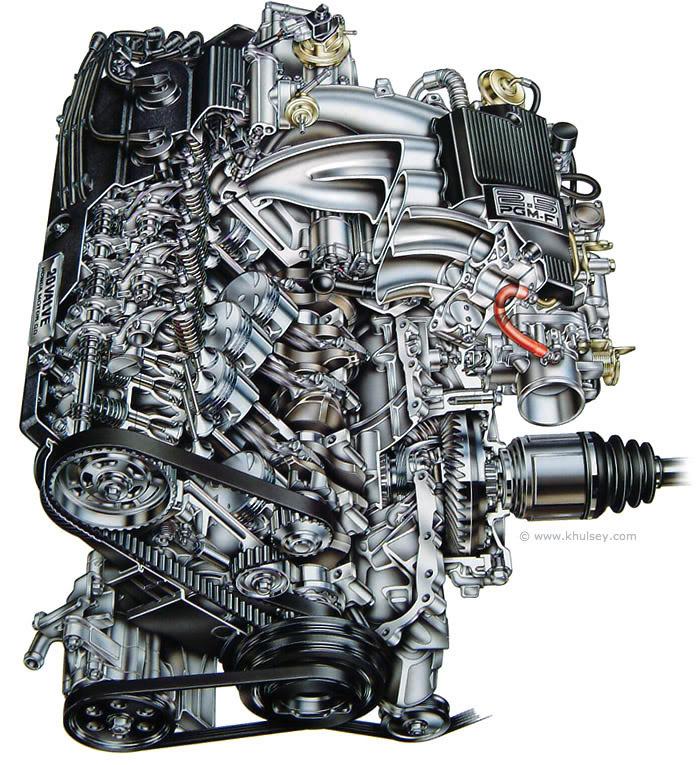 Honda, silnik, pięć cylindrów, R5, straight 5, G25A, 5-cylinder, engine, JDM