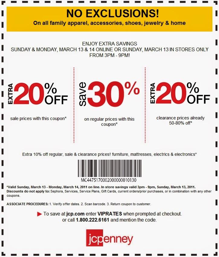 Jc penney coupon codes