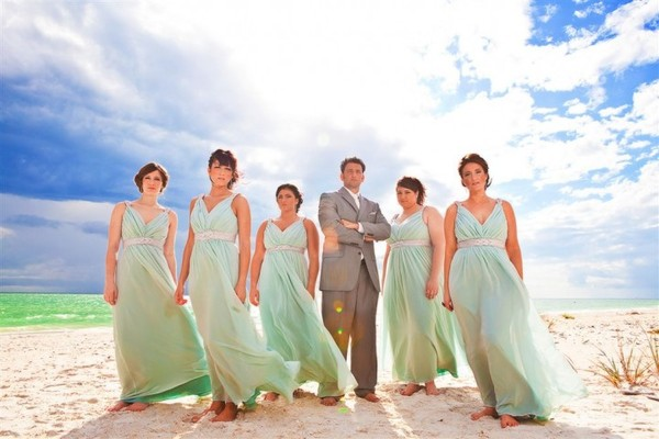 Kaylee miller for Green beach wedding dresses