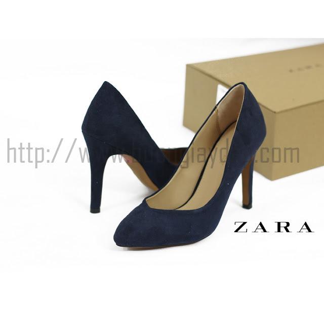 Bỏ sỉ giày bít khoét tim Zara Basic