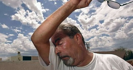 ضربة الشمس أسباب ,العلاج والاسعافات الأولية