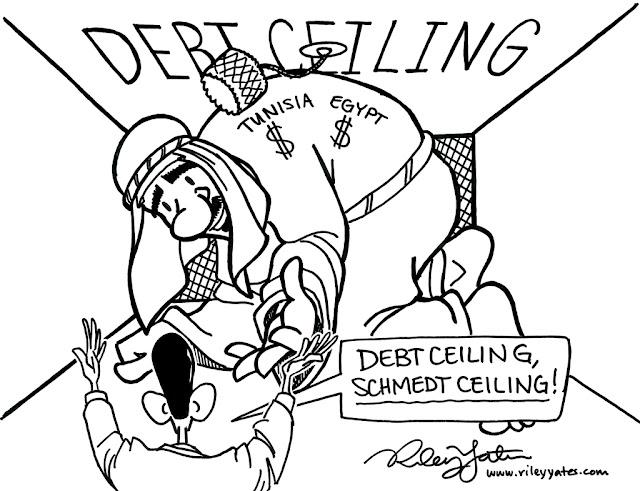 Obama cartoon, Debt cartoon
