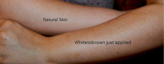 Whitetobrown - tanning lotion - fake tan - self tan - instant tan - review