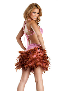 pink feather dress viktor viktoria