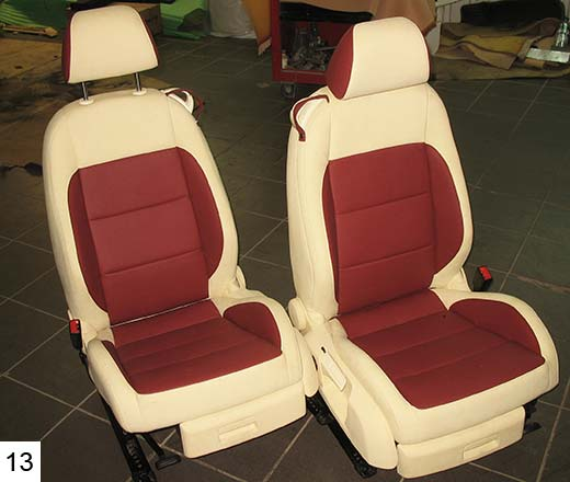 Перетяжка сидений автомобиля своими руками технология