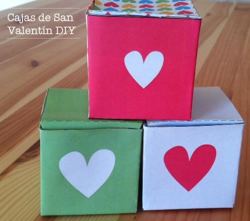 Manualidades: Cajas de papel para San Valentín