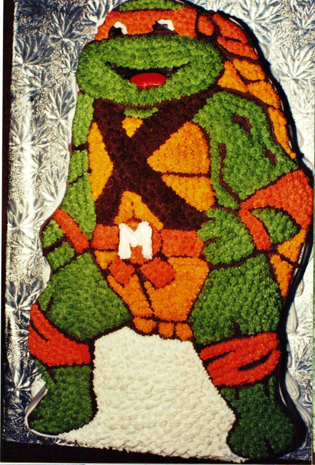 Teenage Mutant Ninja Turtle Michelangelo Cake